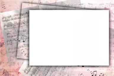 Рамки для текста. Рамка, фотоэффект: Рамка для нот. Красивая рамка подойдет для оформления текста, а также нот.