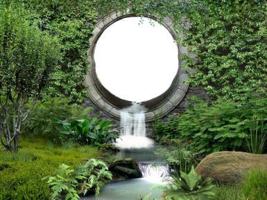 Дни леса в России. Водопад. зелень,вода,камень