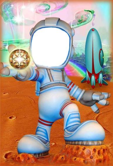 Всемирный день авиации и космонавтики. мультяшный космонавт. ракета планета