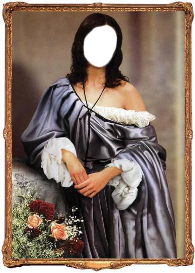Фэнтези, картины. Рамка, фотоэффект: средневековье. красотка не заметила, как платье сползло с плеча..