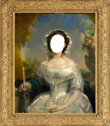 Фэнтези, картины. Рамка, фотоэффект: Старинная картина.  картина, бронза, девушка, рисунок