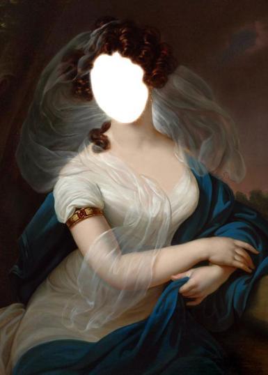 Фэнтези, картины. Рамка, фотоэффект: Девушка в белом.  девушка, картина, белое платье, рисунок