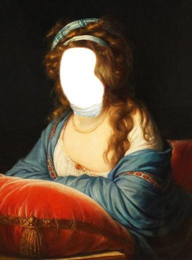 Фэнтези, картины. Рамка, фотоэффект: Картина.  картина, девушка, женщина, рисунок