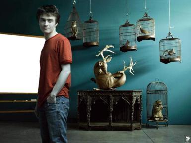 Звезды, журналы. Рамка, фотоэффект: Гарри Поттер. Дэниел Редклифф