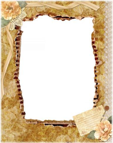 Рамки для текста. Рамка, фотоэффект: Старые письма. Стильная фоторамка, а также рамка для текста