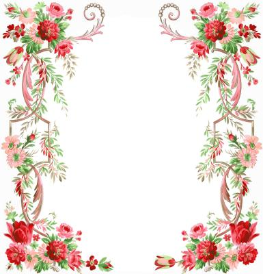Рамки для текста. Рамка, фотоэффект: Изящные цветы. Рамка для оформления текста