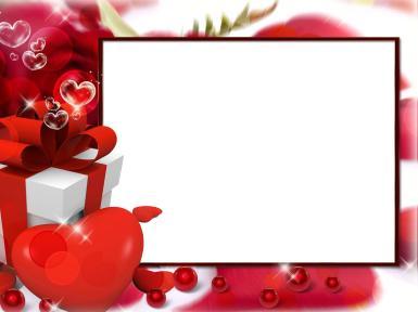 Свадебные. Рамка, фотоэффект: Дарю любовь. Романтика, любовь, подарок, сердце, лента, бусины, шарики, блеск, блестки, блики, сердечки