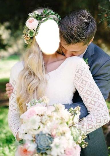 Свадебные. Рамка, фотоэффект: свадьба. Свадьба, молодожены, невеста, жених, русская свадьба, славянская свадьба, белое платье, венок в волосах, цветы, букет, фотосессия на природе, два человека одно целое