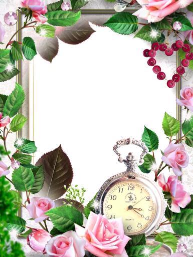 Свадебные. Рамка, фотоэффект: Во время венчания. розы, часы, время, цветы, растения, листья, природа, романтика, любовь, Настоящая романтика рождается тогда, когда у человека появляется драйв