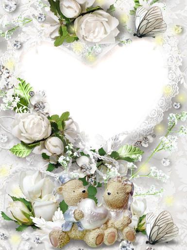 Свадебные. Рамка, фотоэффект: свадебный торт. розы, бабочки, цветы, свадьба, молодожены, супруги, венчание, торжество, любовь, романтика, Если любишь, так люби, Пламя в сердце береги, Никому не доверяй, Чувства нежные скрыв