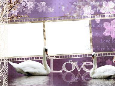 Свадебные. Рамка, фотоэффект: LOVE. ажур
