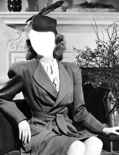 Черно-белые рамки. Рамка, фотоэффект: прелестница. шляпка