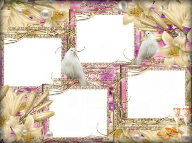 Свадебные. Рамка, фотоэффект: королева цветов. торжественная церемония