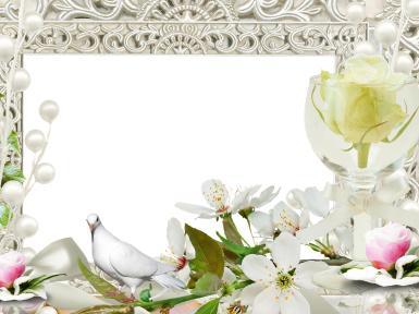 Свадебные. Рамка, фотоэффект: самый важный и романтический шаг. цветы и букеты