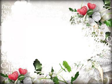 Свадебные. Рамка, фотоэффект: марьяж. горельеф