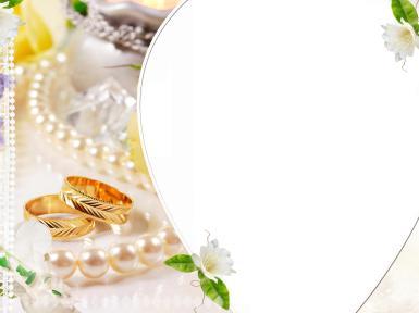Свадебные. Рамка, фотоэффект: обручальные кольца.  не пpостое укpашенье, Двух сеpдец одно pешенье..,