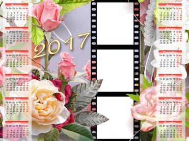Найдены рамки: календари . Найдены рамки: календари Календари на 2017 год. Календарь на все месяца в 2017 году. На три фотографии, в виде кадров на кинопленке.