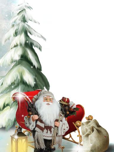 Прочие детские рамки. Рамка, фотоэффект: Фоторамка с Дедом Морозом. Детская фоторамка на Новый год. Дед Мороз, подарки, елка, зима, снег.