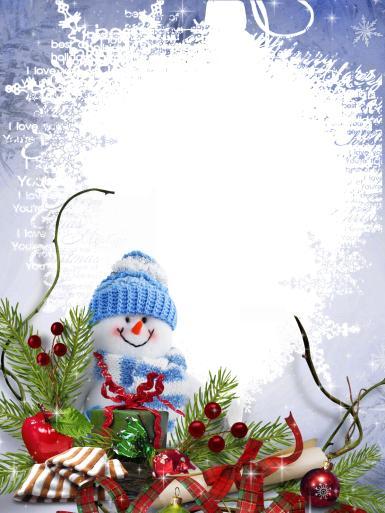 Прочие детские рамки. Рамка, фотоэффект: Фоторамка на Новогодние каникулы. Рамка для зимних фотографий. Воспоминания о новогодних праздниках. Ветки хвои, снеговичок, свиток, лента, подарки, игрушки, зима.