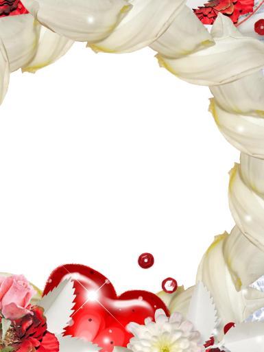 Романтическая фоторамка. Рамка с сердцем, открытка для влюбленных. Красное сердце, ромашки, цветы.