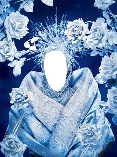 Фэнтези, картины. Рамка, фотоэффект: Снежная королева. Коллаж для девушек, фотомонтаж, вставить лицо в фото. Портрет Снежной Королевы. Ледяная прическа, снежные розы, мороз, снег, сказка.