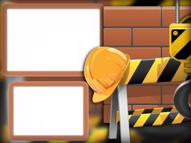 Мужские. Рамка, фотоэффект: Строительная фоторамка. Фоторамка для строителей. Кирпичная стена, желтая каска, строительная техника. Двойная фоторамка. Рамка на две фотографии.