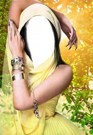 Зеленые, желтые рамки. Рамка, фотоэффект: Коллаж для девушки. Фотомонтаж, вставить лицо в фото, изменить фотографию. Девушка в желтом платье. Рассвет. Солнце за спиной. Руки в браслетах. Длинные серебристые острые ногти.