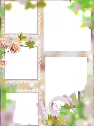 Романтика. Рамка, фотоэффект: Love- фоторамка. Романтическая рамка на пять фотографий. Кружевные фоторамки, весенние цветы, нежная фоторамка, свадьба, любовь, семья.