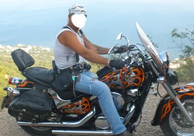 Мужские. Рамка, фотоэффект: Байкер. Коллаж для мужчин. Брутальный байкер. Фотомонтаж, фотоприкол. Мужчина на мотоцикле.