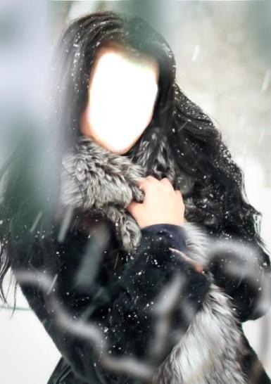 Женские. Рамка, фотоэффект: Девушка в шубе.