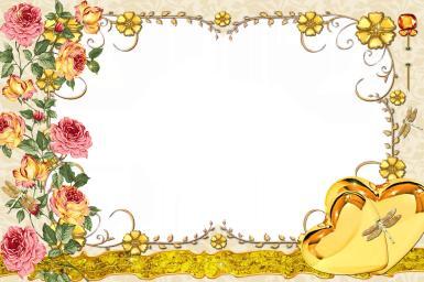 Винтажная рамка с розами.
