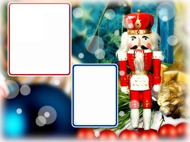 Прочие детские рамки. Рамка, фотоэффект: Щелкунчик. Новогодняя рамка с щелкунчиком