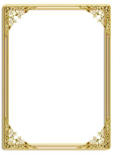 Рамки для текста. Рамка, фотоэффект: Золотая рамка.