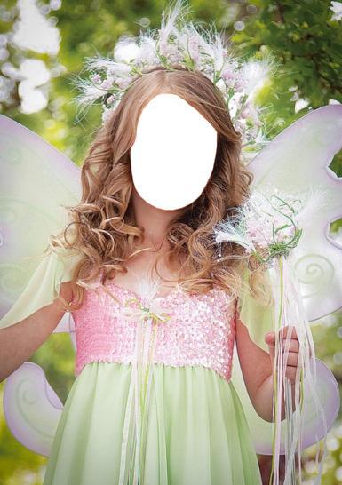 Женские. Рамка, фотоэффект: Девушка фея.