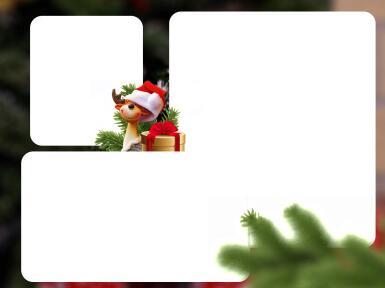 Три и более вырезов. Рамка, фотоэффект: Новогодняя фоторамка. Новогодняя рамка на три фотографии.