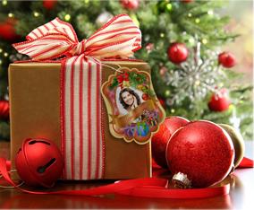 Шаблон бирка на подарок