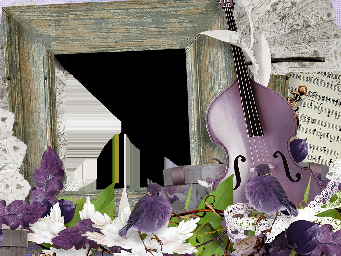 рамки для фото скрипка него