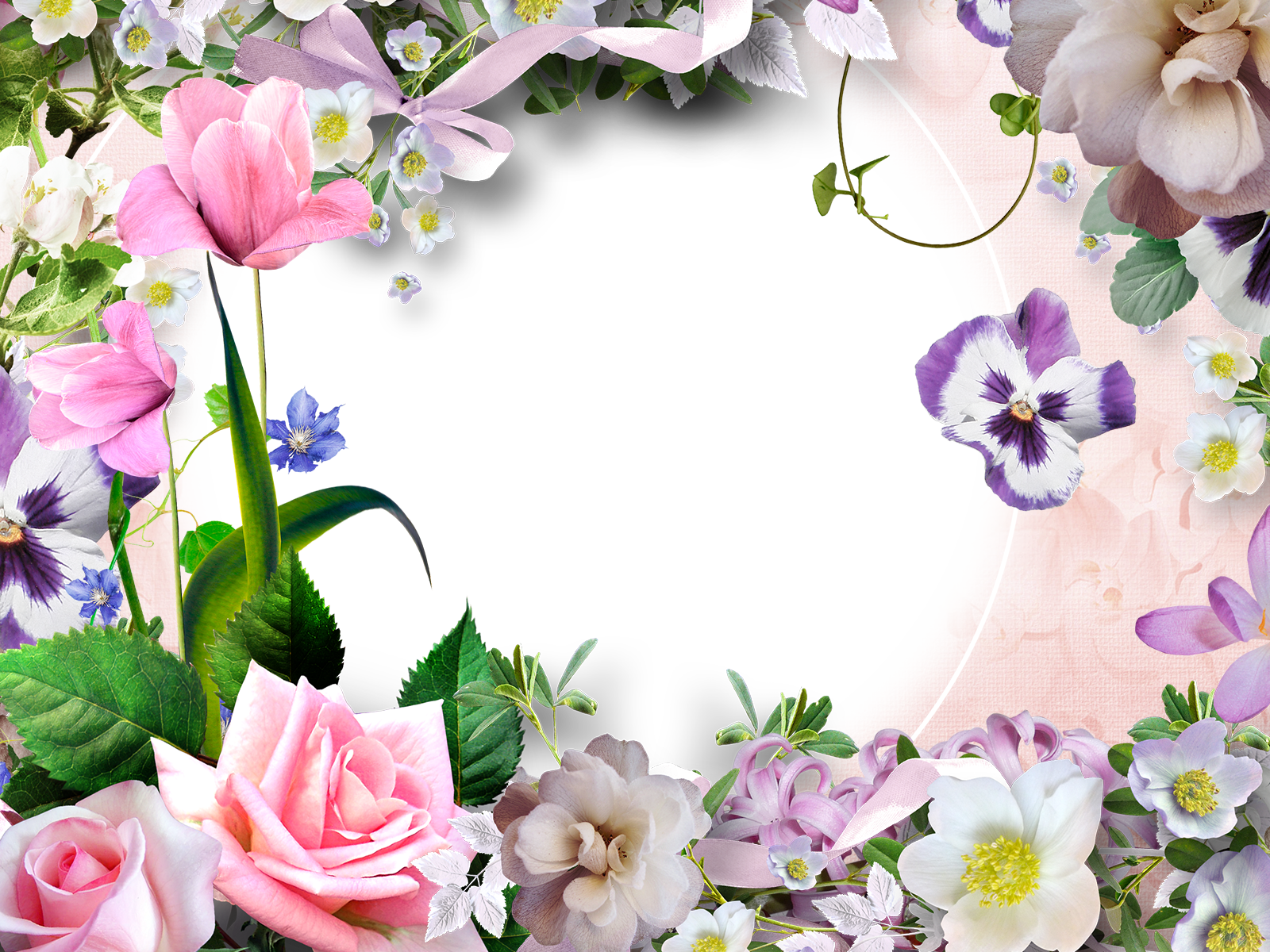 Как вставить цветы в фото