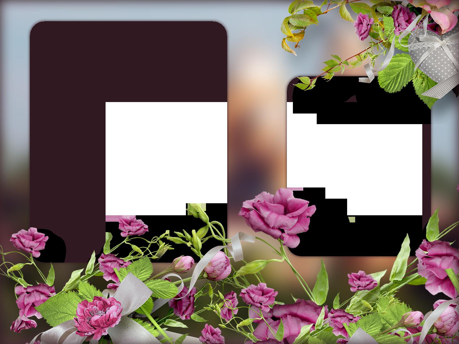 рамки для фото два красивые одна заметная