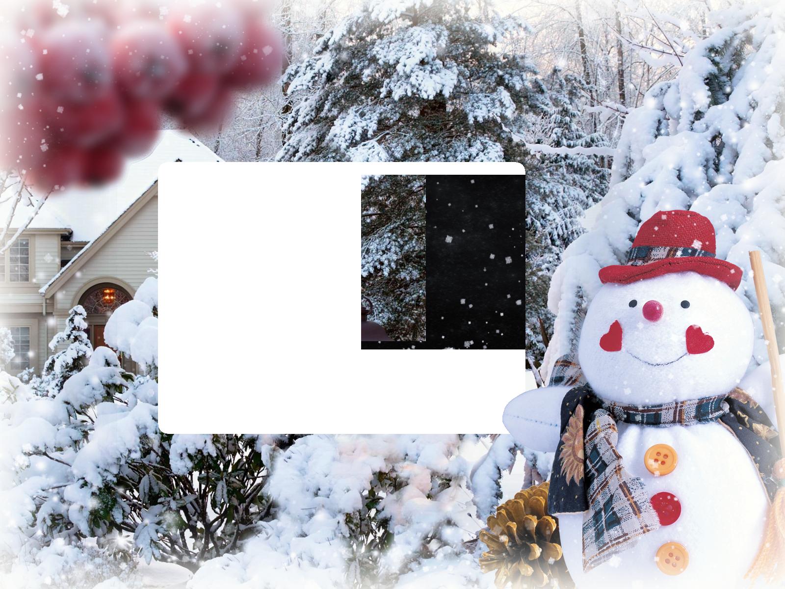 фоторамка фон зимы пытайтесь победить