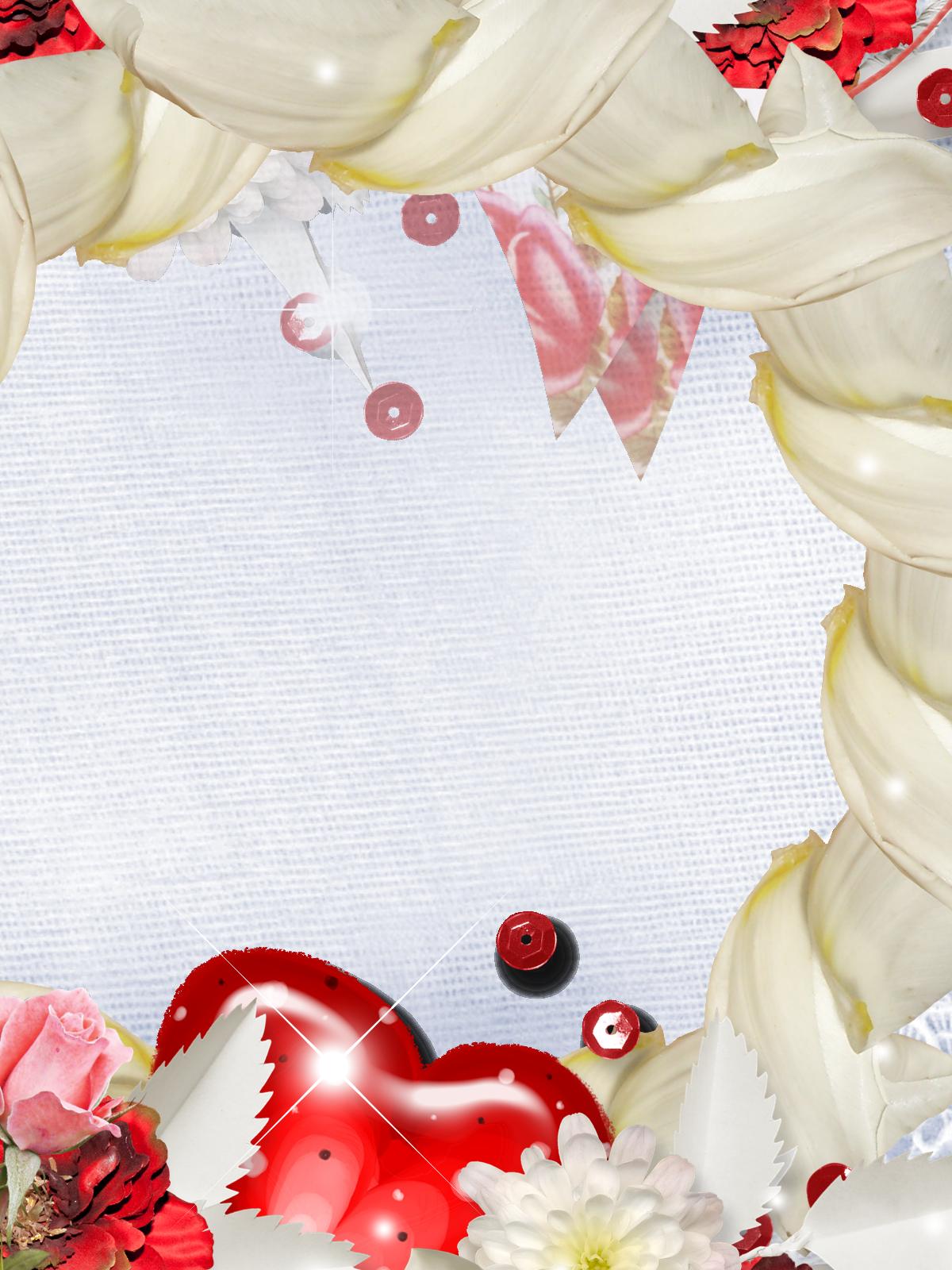 Фоторамка Романтическая фоторамка Фоторамка для фотошопа, PNG шаблон. Рамка с сердцем, открытка для влюбленных. Красное сердце, ромашки, цветы.