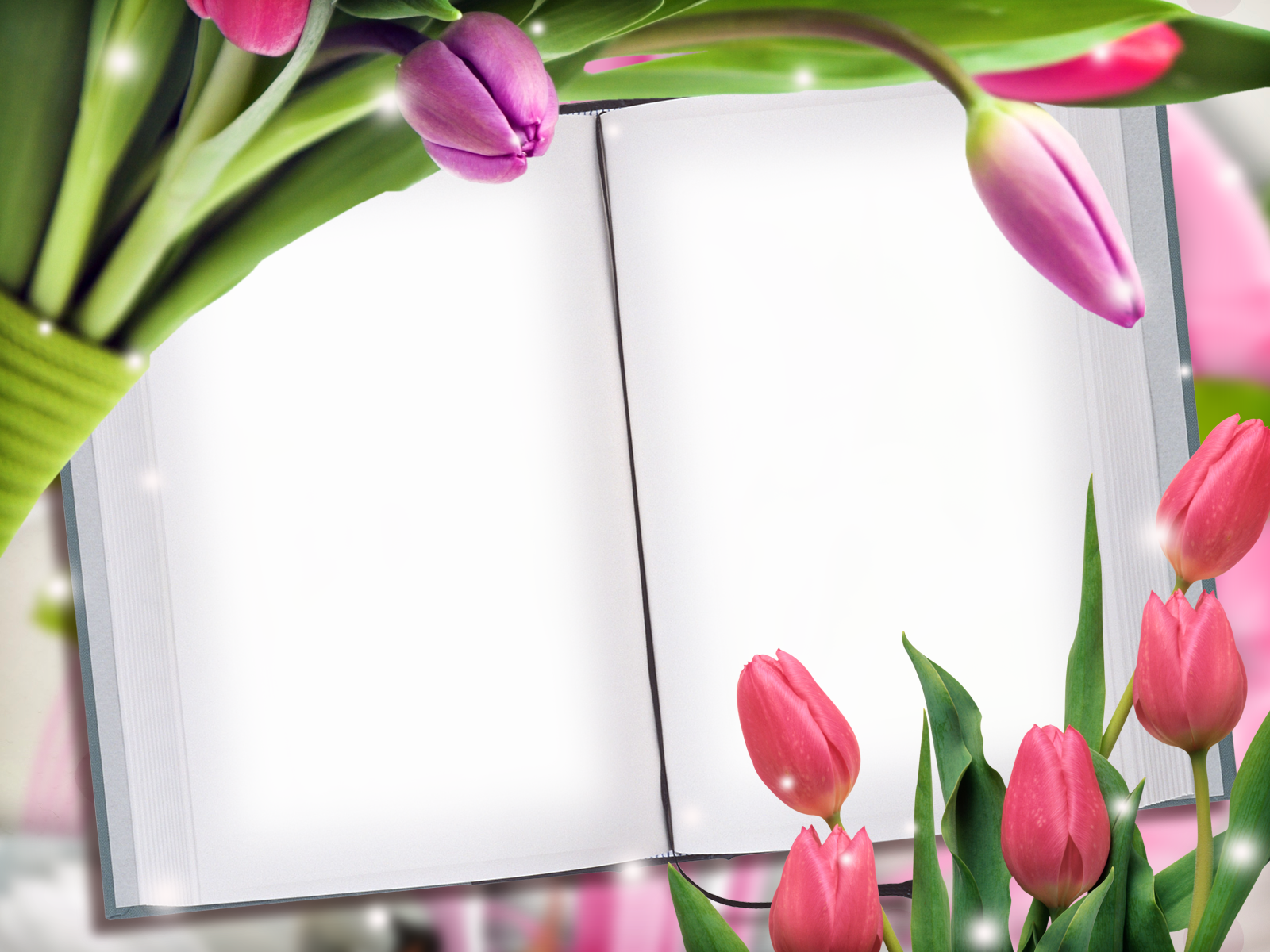 фоторамка из цветов с тюльпанами вред