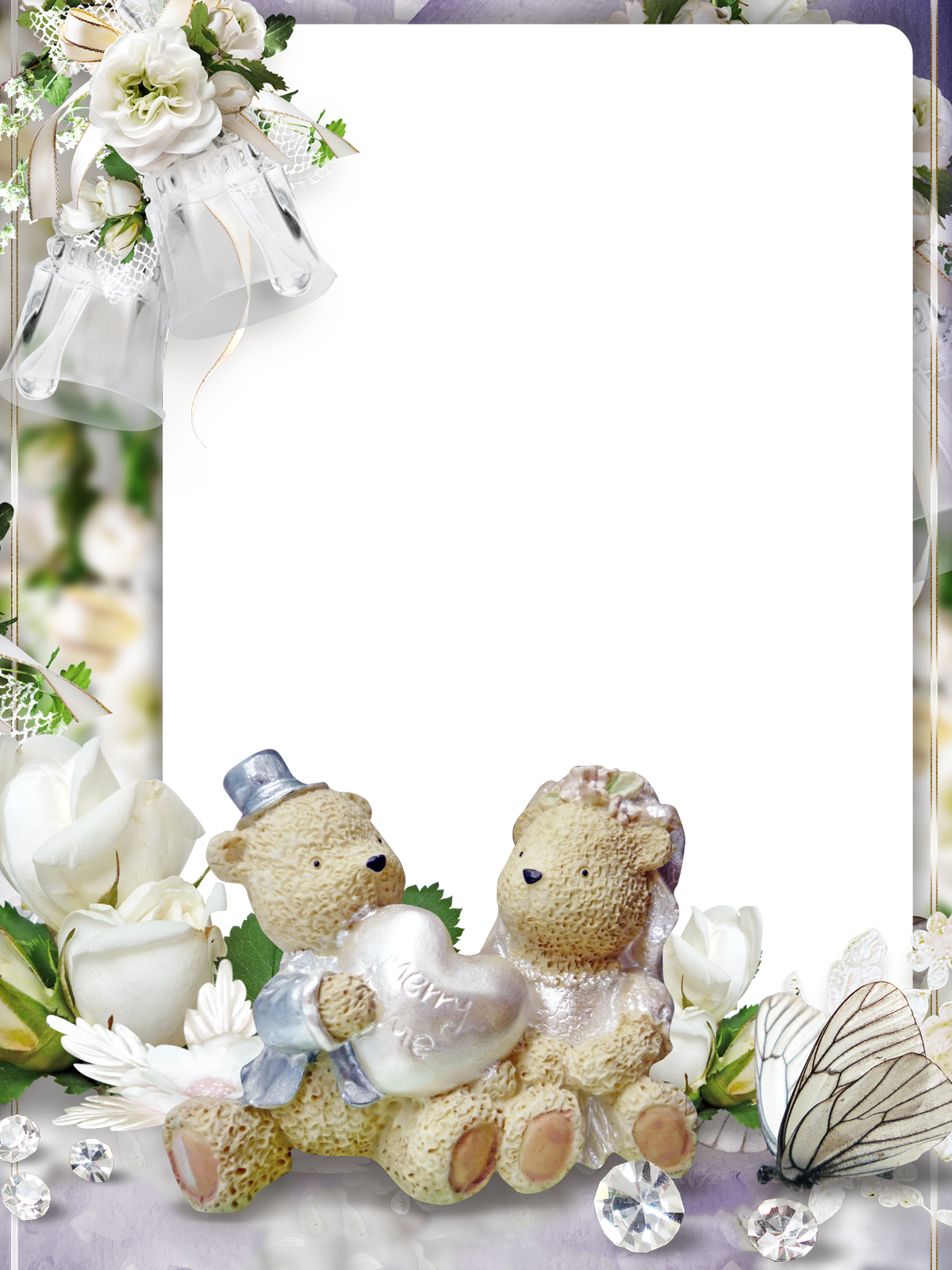 Фоторамка Винтажные мишки Фоторамка для фотошопа, PNG шаблон.