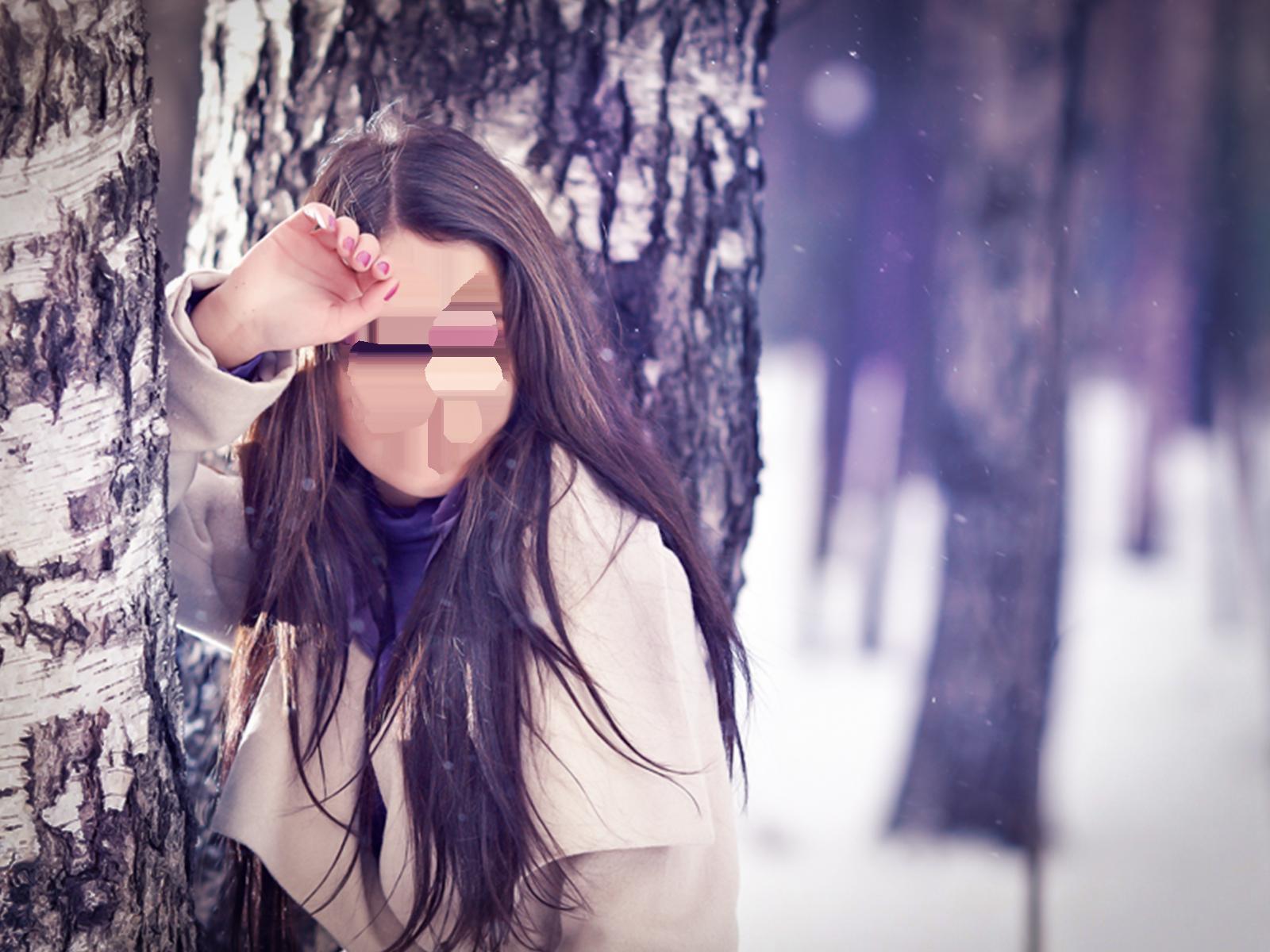 Фоторамка Девушка у березы Фоторамка для фотошопа, PNG шаблон.